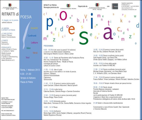 Programma Ritratti di Poesia
